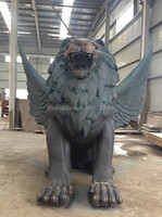 large bronze lion sculptures