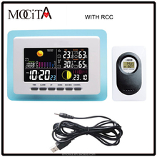 433mhz wireless RF RCC weather station / Weather Station with Digital Clock Barometer In/Outdoor Temperature Humidity