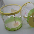 Large plastic bucket with tinplate lid and handle