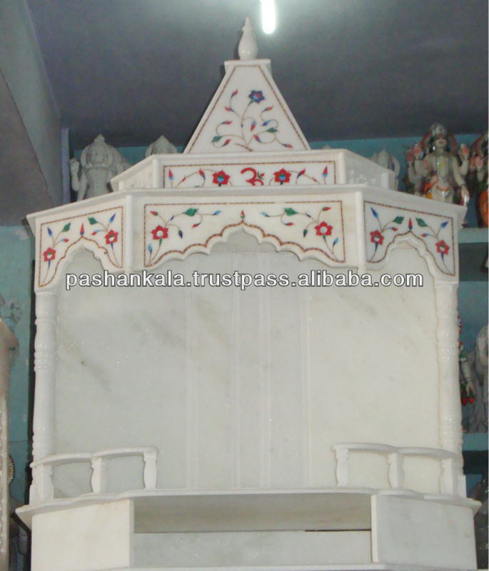 White Marble Home Decorative Mandir And Temple