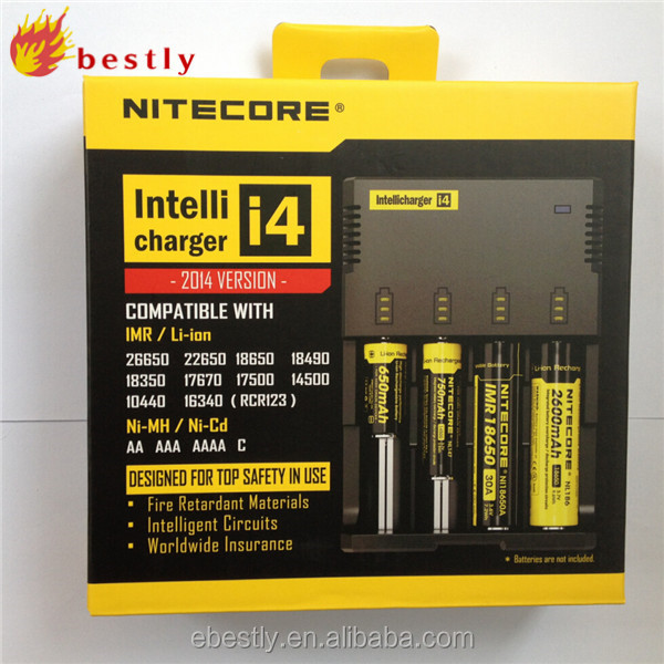 2015 new version Rechargeable universal Li-ion charger nitecore d4 charger 12 volt battery charger
