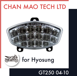 Clear Motorcycle Signal Led Tail Light For HYOSUNG GT250 2004-2010