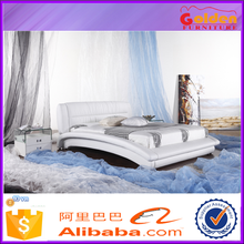 Newest arrival leather bed /elegant bed side design /queen size soft bed dimensions