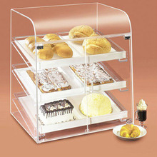 Custom 3 Tray bakery clear acrylic bread display case, Pastry Bakery Donuts Cupcake Display Case, Bread Display rack Cabinet