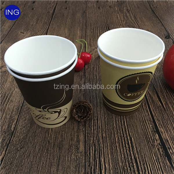 hot sale Hollow double layer ripple wall paper coffee cups with logo Coffee paper
