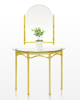 Royal Golden Aluminium Frame Luxury Classic Design Italian Style Elegant Home Living Room Furniture Table Malaysia