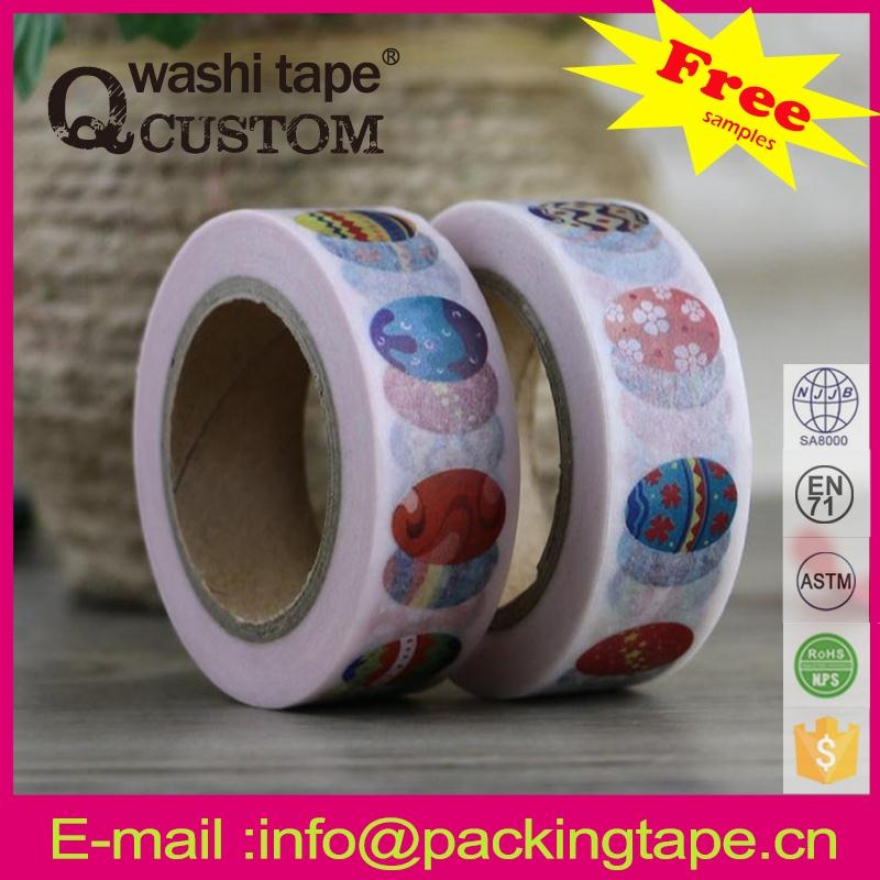 Qcustom colorful washi masking tape dots for scrapbooking