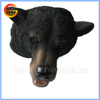 Black bear head 3d wall home decoration