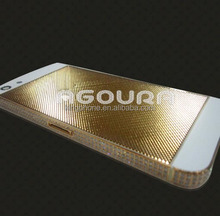 100% 24k real gold back cover with square grid and diamond for iphone 5s