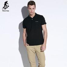 high quality promotion cheap mens polo collar striped t shirt