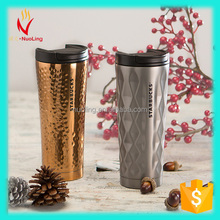 Hot sale 16oz personalized double wall stainless steel starbucks termos with lid