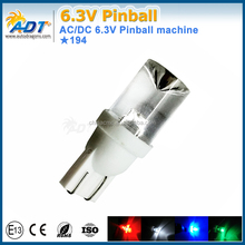 Non-polarity concave Pinball led lights W5W T10 194 555 white 6000k