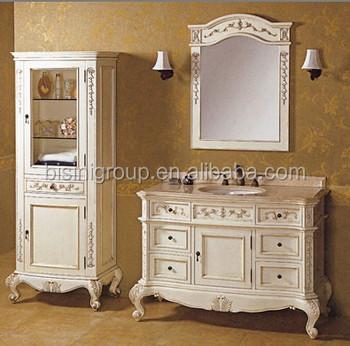 French Style Bathroom Vanity Set,Antique White Bathroom Furniture,Classic  Elegant Bathroom Cabinet(