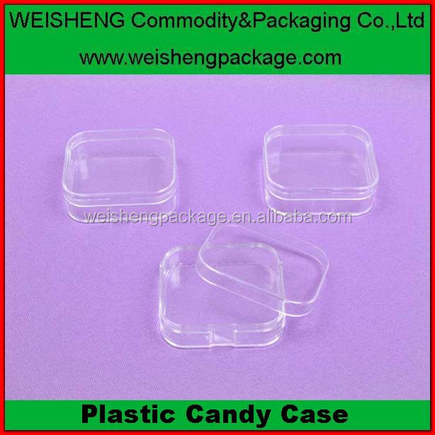 Factory Price Hard Plastic ps Material candy Packaging Cases with lid