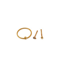 Nose set include nose stud and ring for your choice rose gold-plated