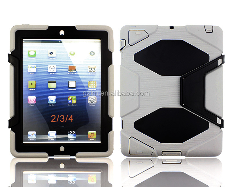 Rugged and combo case with screen protector for Apple iPad 2 iPad 3 iPad 4