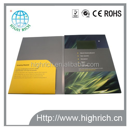 Custom printed video greeting mailers