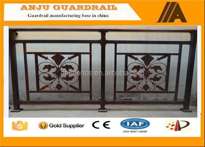 2015 alibaba china professional prefab palisade fencing/decorative balcony fence grill design YT004
