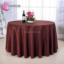 Cheap polyester white round tablecloths/ visa plain coffee table cloth wholesale for wedding decoration