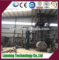 Full automatical waste tire /plastic /rubber recycling to diesel pyrolysis plant and distillation plant line