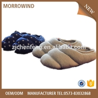 duck down filled feather slipper cotton down shoes factory