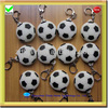 cool football shape silicone rubber led keychain