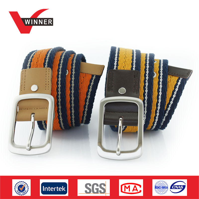 Alloy Buckles Custom Mens Canvas Belts