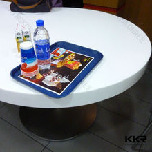 kfc dining table and chair, round artificial stone top dining prefab tables