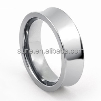 China Supplier wholesale Jewelry Tungsten Carbide Shiny Polish Finish Concave Design Wedding Band Ring
