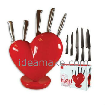 The Heart Knife Block Smart Kitchen Gadget New Arrival Products