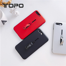 2017 newest 2 in 1 pc tpu hide ring holder Mobile cell phone case cover for iphone X 8 7 6 plus stand