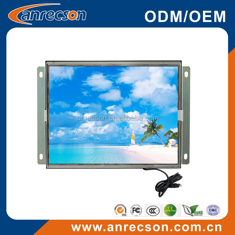 VGA DVI 10 inch usb touchscreen monitor