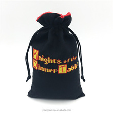 Wholesale Suede Jewelry Roll Drawstring Bags With Embroidery Logo