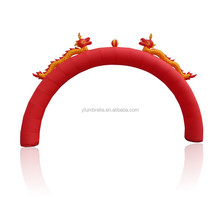 inflatable double Dragon arches with Chinese characteristics
