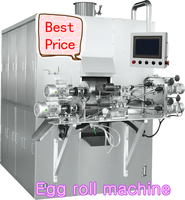 egg roll making machine wafer stick making machine cream/ chocalate core egg roll machine Delta or Siemens PLC control