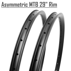 2017 Winowsports Asymmetric Wide rims 29er carbon rims mtb 33mm wide mountain bicycle rim Tubeless hookless 28/32h