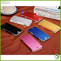 phone case with brushed metal flip cover for iphone 5