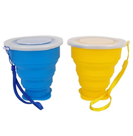 270ml Silicone Folding <strong>Cup</strong> With Lanyard Outdoor Coffee <strong>Cups</strong> Retractable Travel
