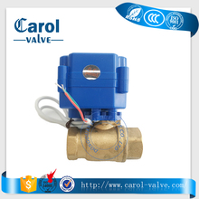 brass mini Motorized Ball Valve DN15