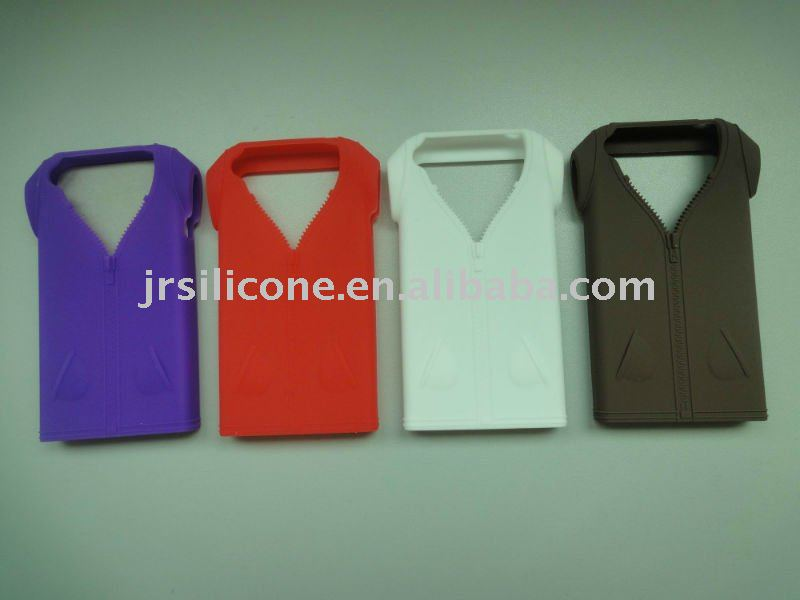 Hot Mini T-shirt style Silicone Case&Cover for Iphone4