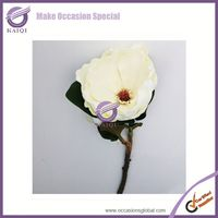 18290-1 white mangnolia Factory wholesale high quality artificial PU flower