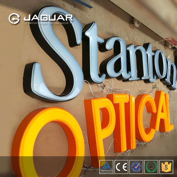 Vacuum formed big solid 3d lighted cutting acrylic letter/sign/signage