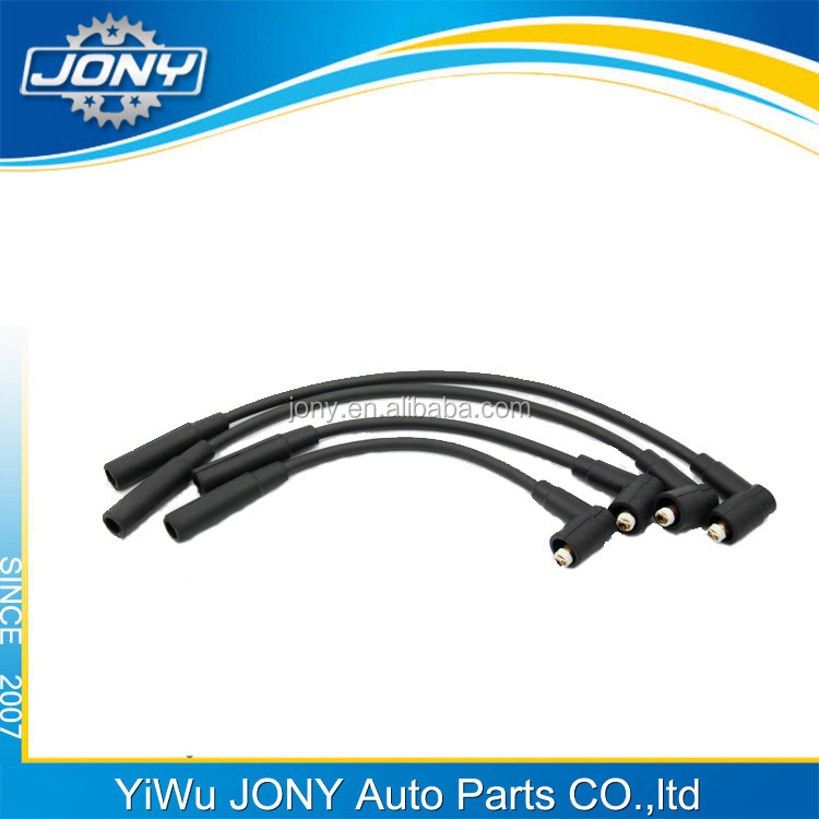 high quality black ignition cable set EDPM cable silicone boots 120V spark plug wire set