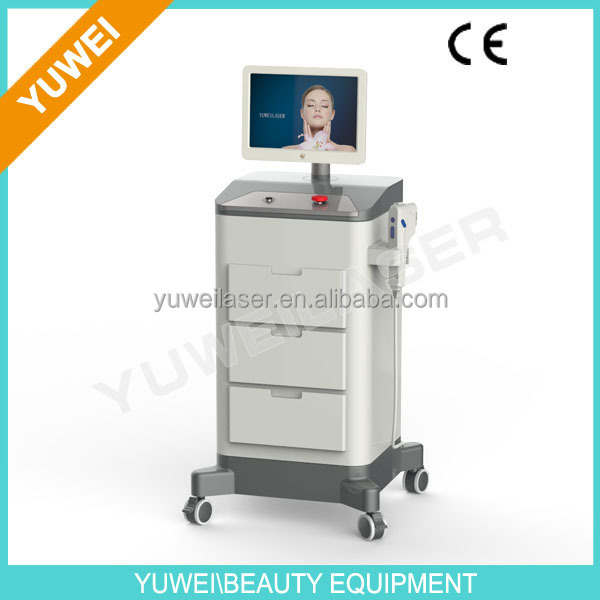 HIFU high intensity focused ultrasound system,3 treatment tips for 3 penetration depth,for uplift of face,neck,brow,etc.