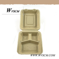 plant fiber based compostable disposable food container