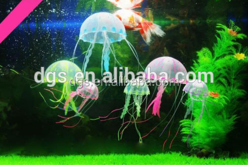 LED Jellyfish fish Aquarium Decoration fish jar decoration cheap fish tank light jellyfish promotional gift