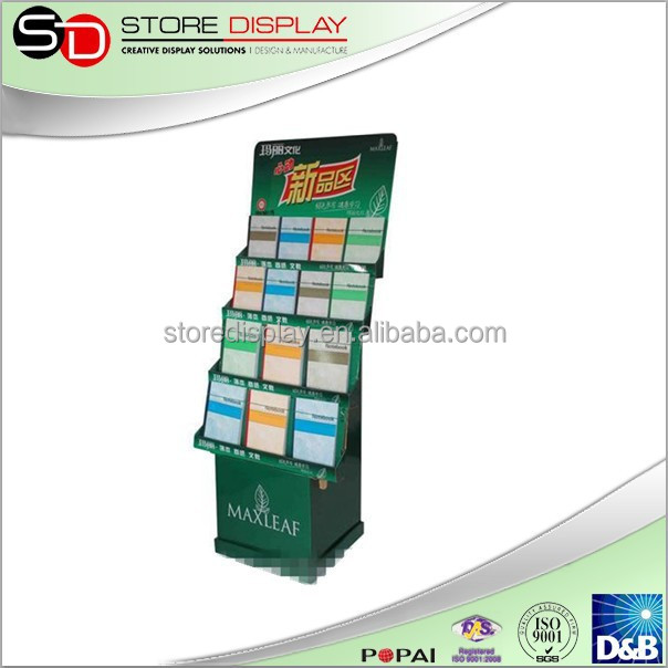 4C printing portable display stand, pen display stand for promotion