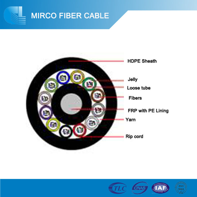50/125 Air Blown Micro Duct Fiber optic cable