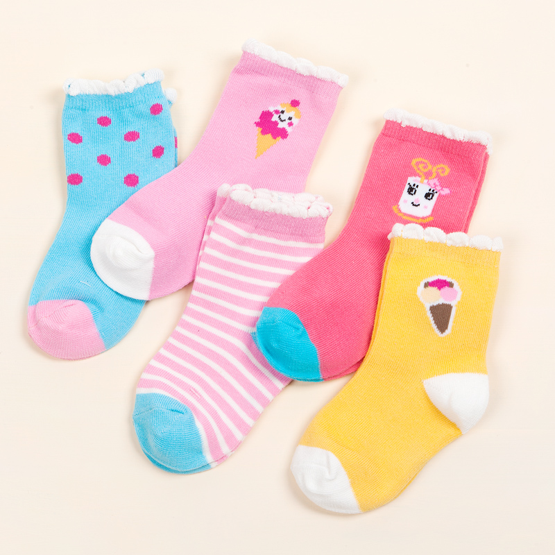 China manufacturer durable Anti-Bacterial baby pattern knitted sock