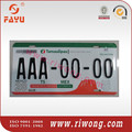 Mexico American Style Car License Plate